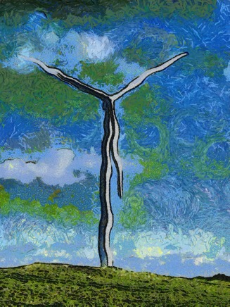 Wind Turbine Madness by Gogh - R J Stephens