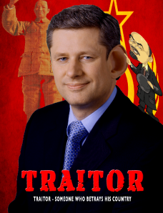 Prime Minister Stephen Harper is a Traitor