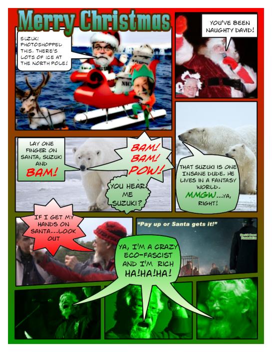 Merry Christmas form Santa and David Suzuki
